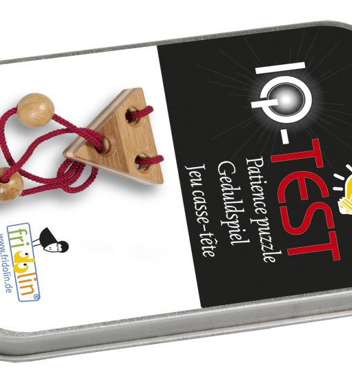Iq test bamboo string-puzzles – red