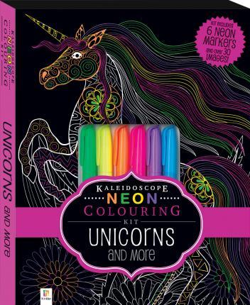 Kaleidoscope colouring unicorn squishy kit