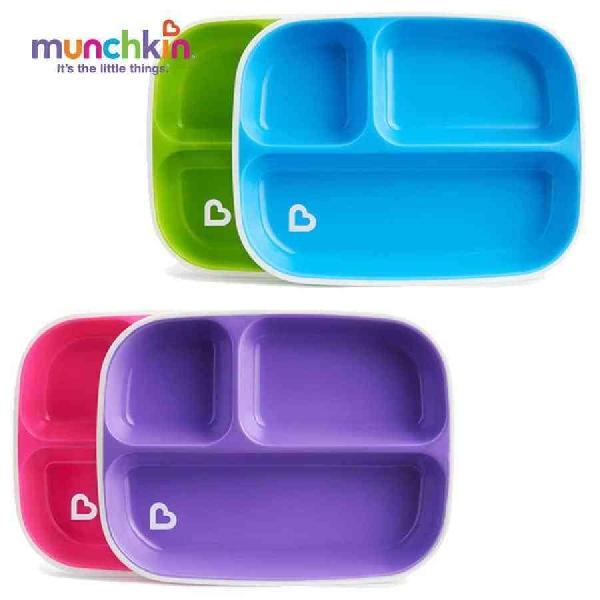 Splash divided plates - 2pk