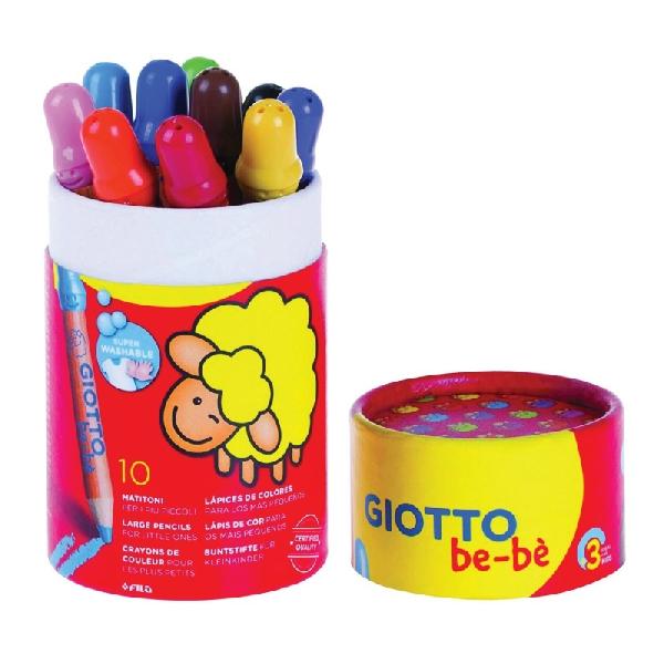 ดินสอสีไม้แท่งจัมโบ้พร้อมกระป๋อง