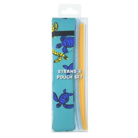 Reusable straws & pouch set