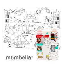 Silicone coloring plate mat - car (the street)