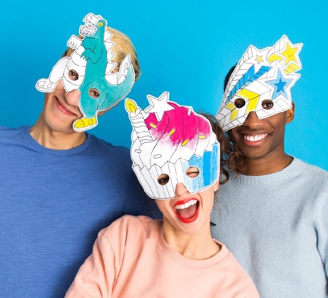 Set of 8 coloring masks - fantastic