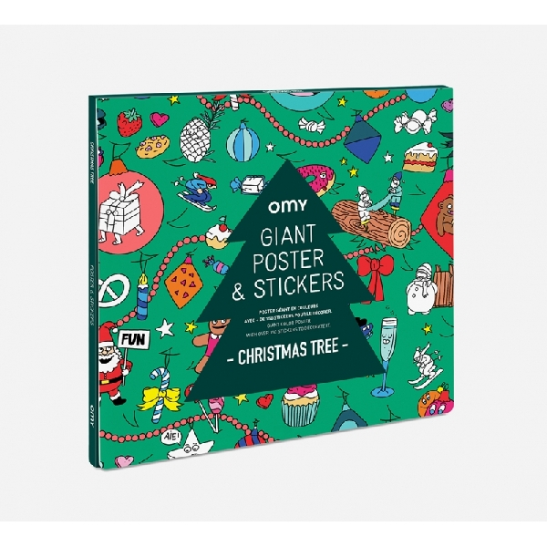 Poster & stickers christmas tree