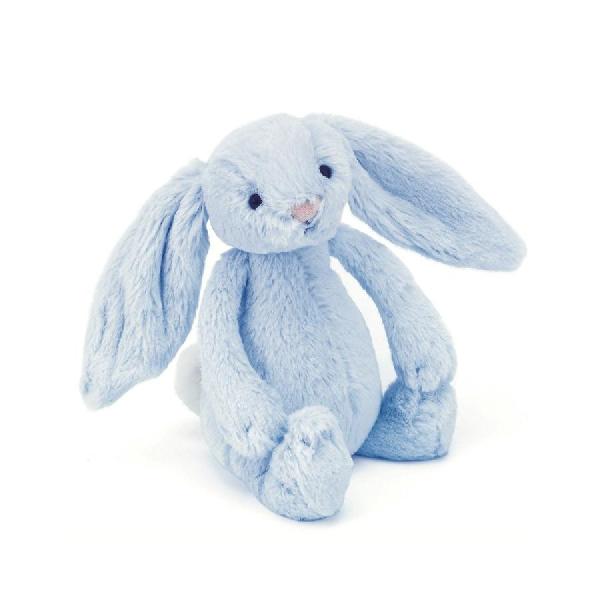Bashful blue bunny rattle 18 cm