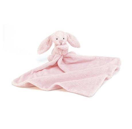 ตุ๊กตาและผ้า กระต่ายน้อยนุ่มนิ่ม สีชมพู