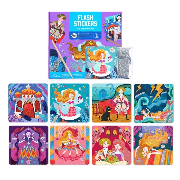 Flash stickers - the little mermaid