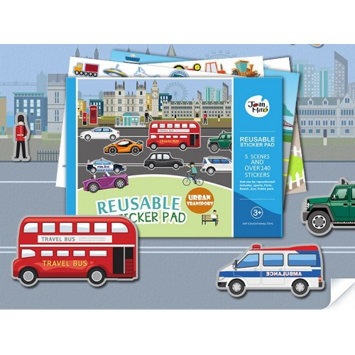 Reusable sticker pad-urban transport