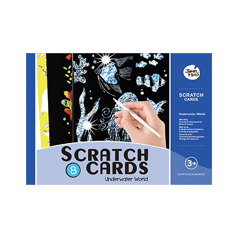 Scratch art set-underwater world