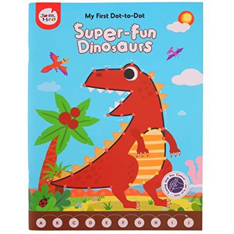 My first dot-to-dot (super fun dinosaurs)