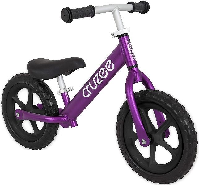 จักรยานขาไถครูซซี่สีม่วง+ล้อสีดำ
