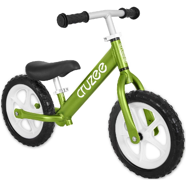 Cruzee bike - green with white wheels