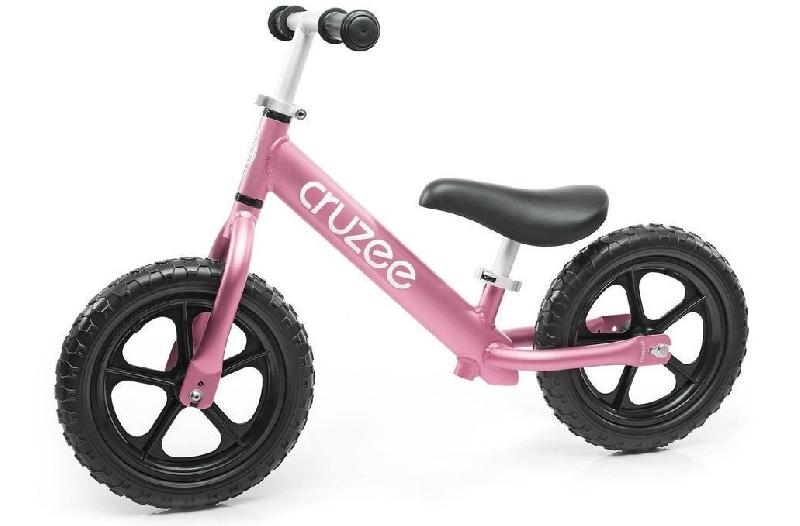 จักรยานขาไถครูซซี่สีชมพู+ล้อดำ