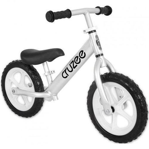 Cruzee bike - silver cosmos grey with white wheels