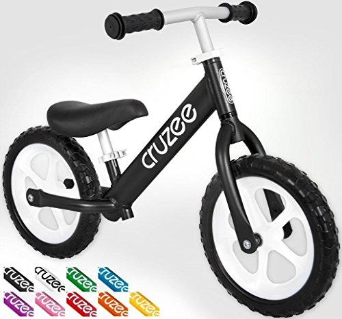 Cruzee bike - black with white wheels