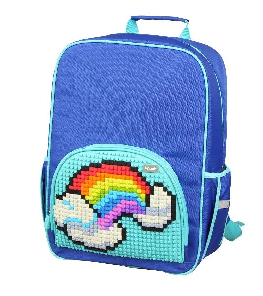 กระเป๋าสะพายหลัง สีน้ำเงิน-ฟ้า