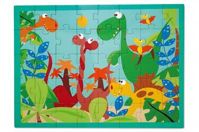จิ๊กซอว์รูปโลกของไดโนเสาร์
