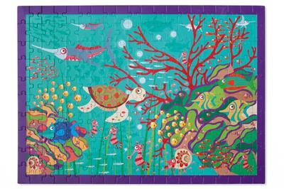 จิ๊กซอว์รูปโลกใต้ทะเล