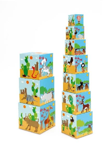 ชุดของเล่นต่อกล่อง - สัตว์โลกน่ารัก