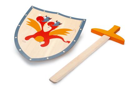 Sword & shield red dragon
