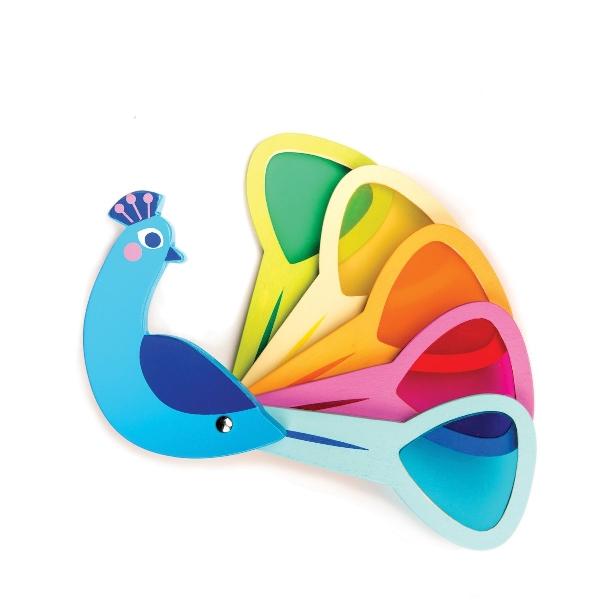 นกยูงไม้ เรียนรู้การผสมสี