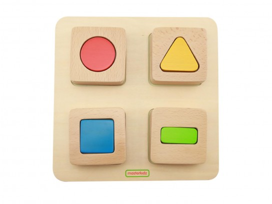 Sensorial shape matching blocks set