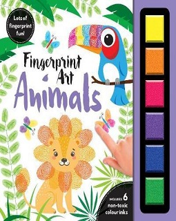 Finger print art animals