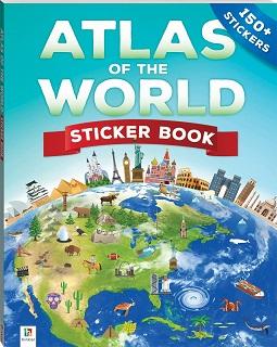 Atlas of the world sticker book