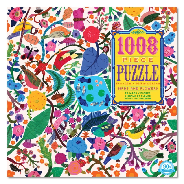 Birds and flowers 1008pc puzzle