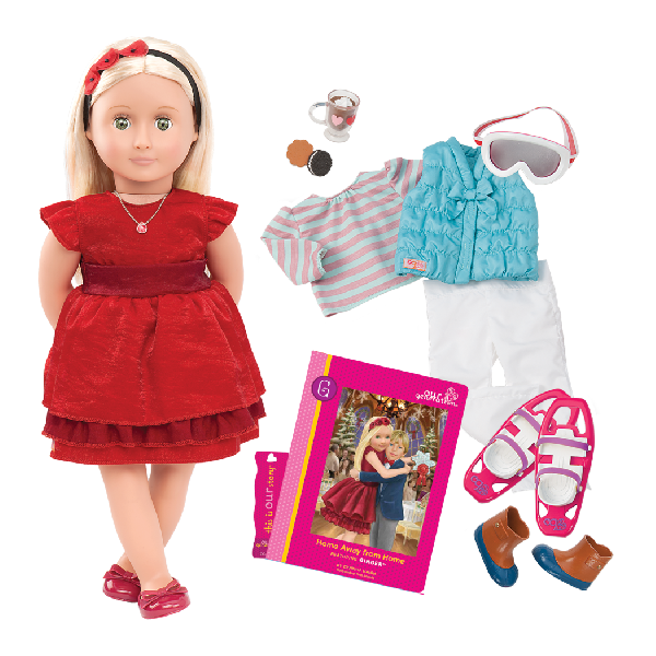 Deluxe doll with book - ginger