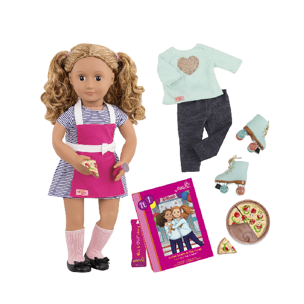 Deluxe doll with book - isa