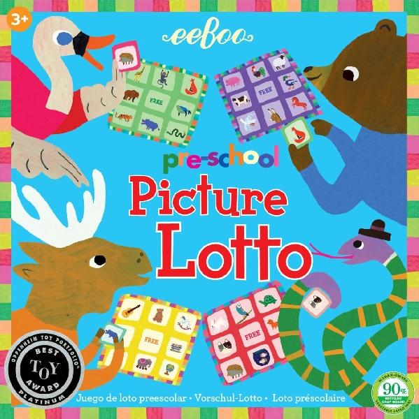 Eeboo - เกมส์ล็อตโต้รูปภาพสำหรับเด็กเล็ก