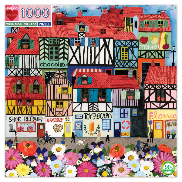 Whimsical village 1000 pc puzzle