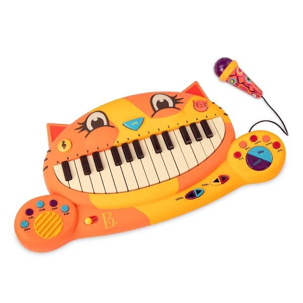B. toys คีย์บอร์ดของเล่นลายแมว