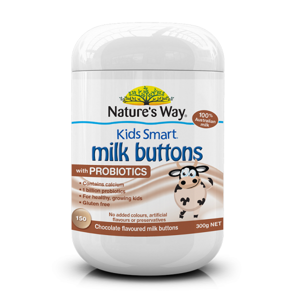 Kids milk buttons probiotic chocolate