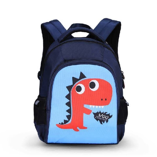 Uek - blue dino backpack  (l)