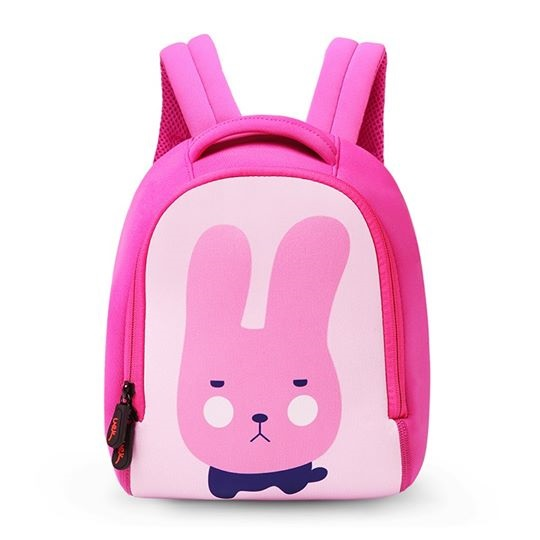 Uek กระเป๋าเป้ลายกระต่ายสีชมพู  (l)