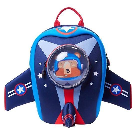 Uek 3d school bag - airplane blue