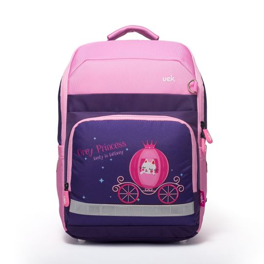 Uek school bag - fun series princess carriage