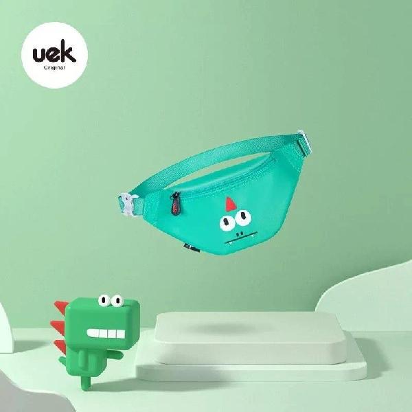 กระเป๋าคาดอกเด็ก รุ่นu-fun - มังกร สีเขียว