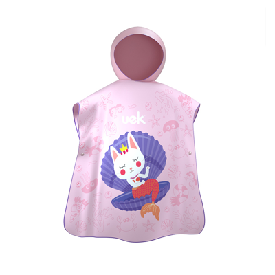 Uek hooded towel - besty pink