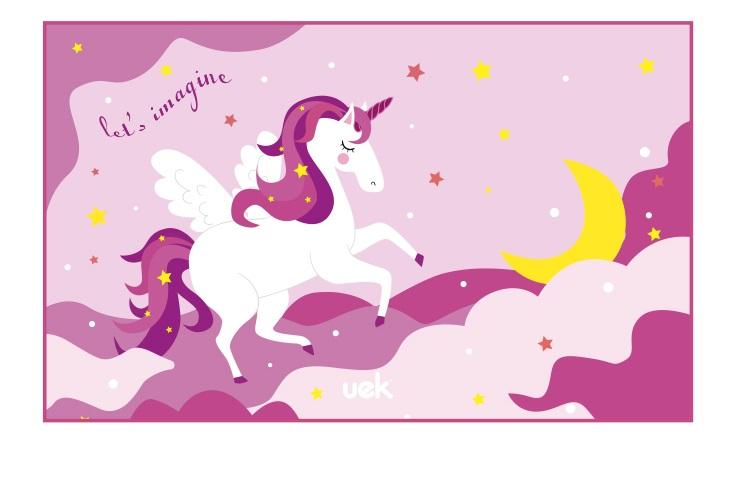 Uek towel - unicorn purple