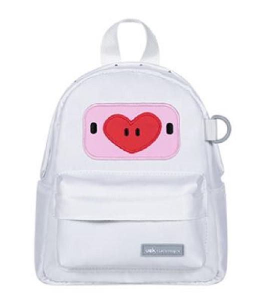 U-fun kids backpack - piggy peach white