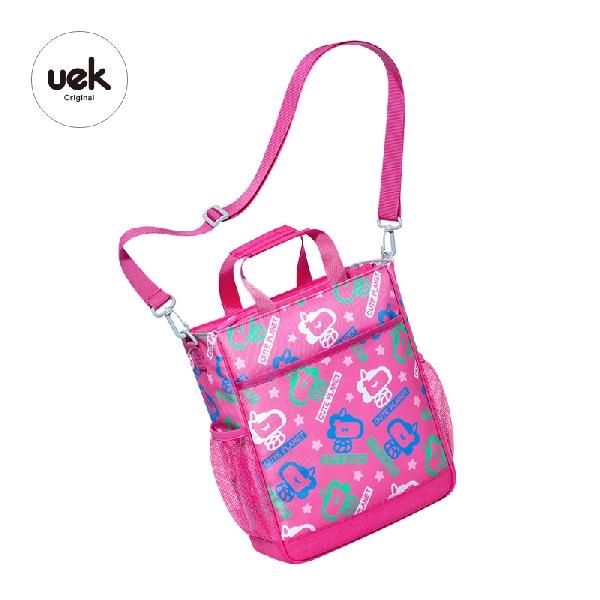 Tutorial bag shell unicorn pink