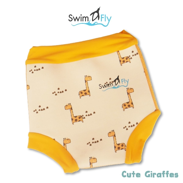 Swimfly กางเกงผ้าอ้อมว่ายน้ำไซส์ s ลายgiraffe