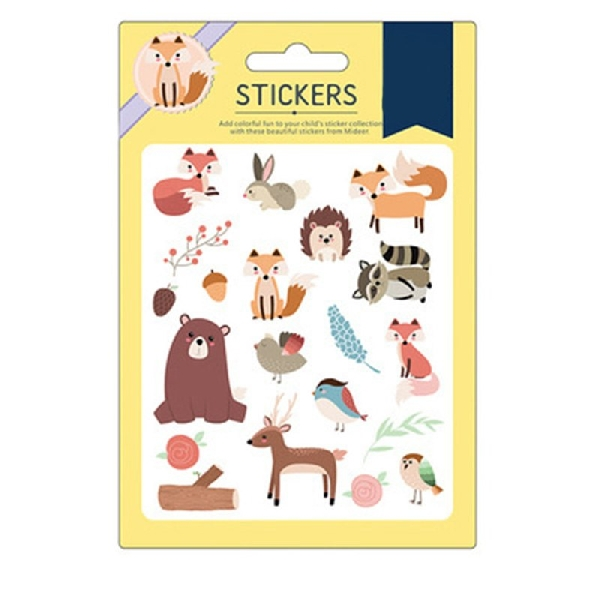 Colourful stickers - fox