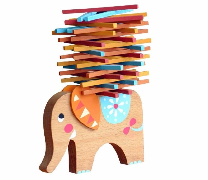 เกมช้างแบกท่อนไม้สมดุล