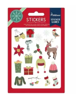 Colourful stickers - christmas