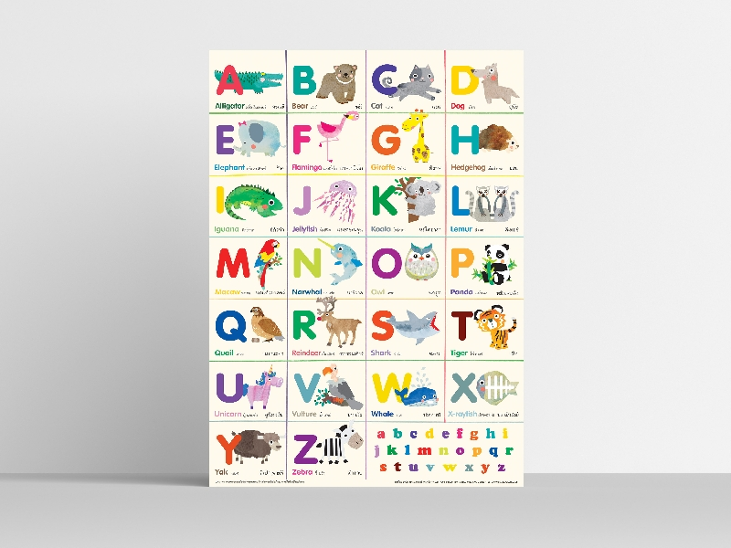 Poster a-z animals