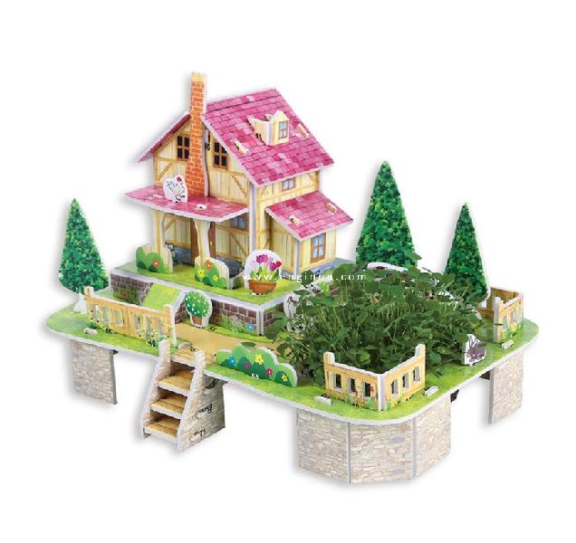 จิ๊กซอว์บ้านสามมิติ  mini cozy farm